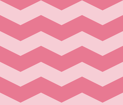 Pink Dawn ~ Chevrons ~ Pink On Pink fabric by peacoquettedesigns on Spoonflower - custom fabric