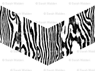 Chevron Safari ~ Black and White Zebra