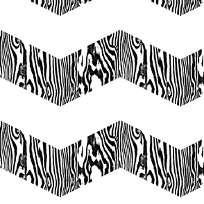 Chevron Safari ~ Black and White Zebra