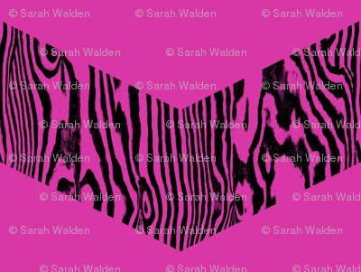 Chevron Safari ~ Black and Magenta Zebra