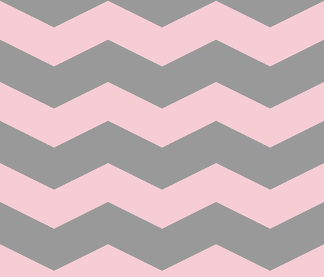 Pink Dawn ~ Chevrons ~ Pink & Grey fabric by peacoquettedesigns on Spoonflower - custom fabric