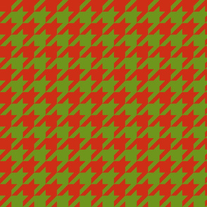 Apple A Day ~ The Houndstooth Check ~ Red Delicious & Leaf