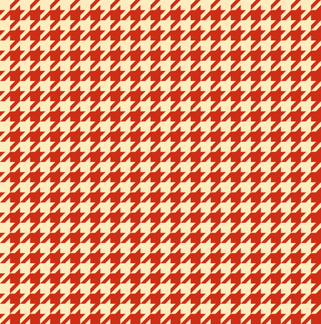 Apple A Day ~ The Houndstooth Check ~ Red Delicious & Core fabric by peacoquettedesigns on Spoonflower - custom fabric