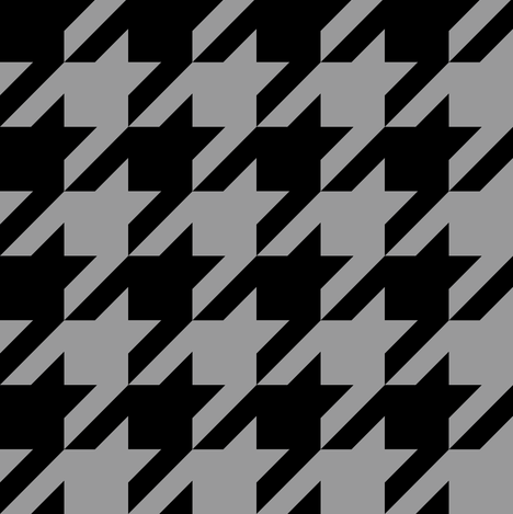 Modern Cottage ~ The Houndstooth Check ~ Black and Grey fabric by peacoquettedesigns on Spoonflower - custom fabric