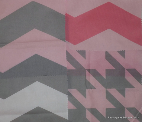 Pink Dawn ~ The Houndstooth Check ~ Pink and Grey