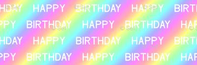 happy birthday over the rainbow