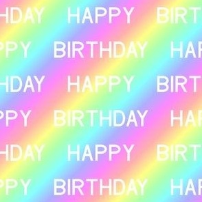 02010720 : happy birthday over the rainbow