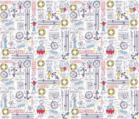 Gilligan's Island Deconstructed fabric by mulberry_tree on Spoonflower - custom fabric