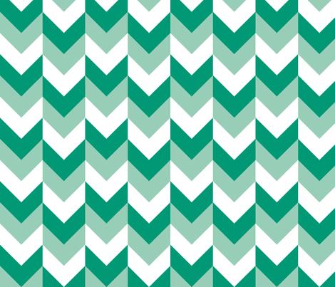 Chevron Offset - Emerald fabric by shelleymade on Spoonflower - custom fabric