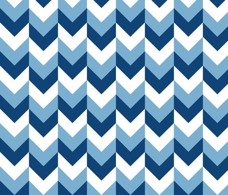 Chevron Offset - Blues fabric by shelleymade on Spoonflower - custom fabric