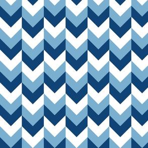 Chevron Offset - Blues