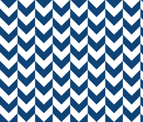 Chevron Offset - Blue and White fabric by shelleymade on Spoonflower - custom fabric