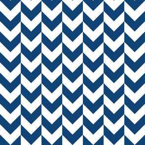 Chevron Offset - Blue and White