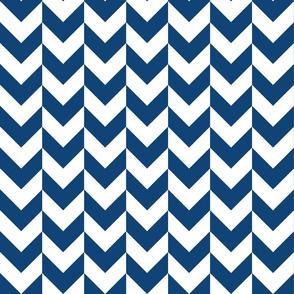 Chevron Offset - Blue and White