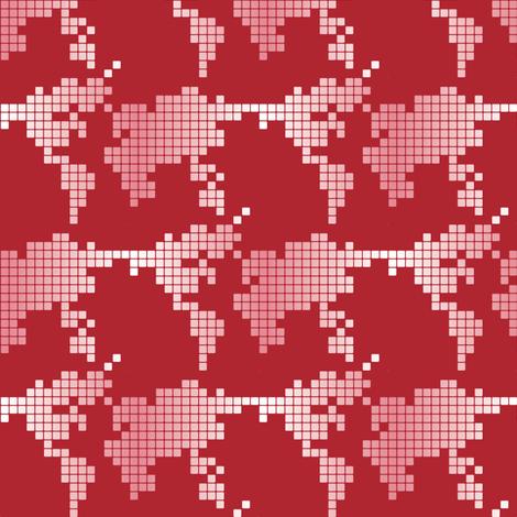 Digital world fabric by ebygomm on Spoonflower - custom fabric