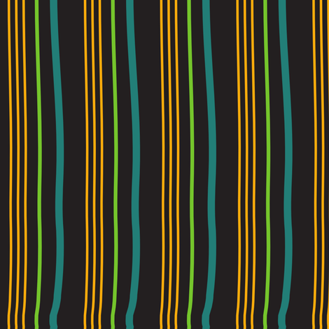 Gardener's Stripe (black) fabric by vanillabeandesigns on Spoonflower - custom fabric