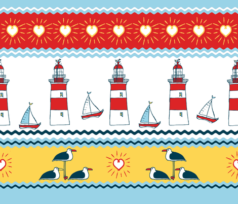 HAPPY_SAILS fabric by nainis on Spoonflower - custom fabric