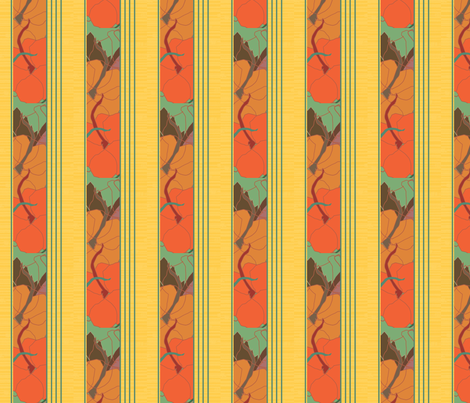 two_stripes_pumpkin fabric by snap-dragon on Spoonflower - custom fabric
