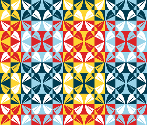 Sailing - Notan Style fabric by coloroncloth on Spoonflower - custom fabric
