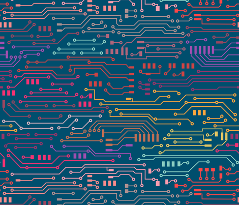 Circuit Nerd fabric by kimsa on Spoonflower - custom fabric