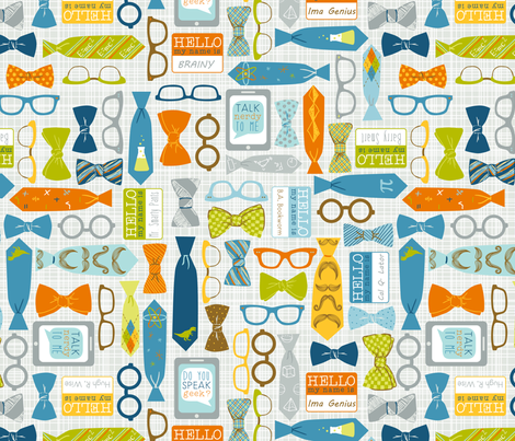 Speak Geek? fabric by amandamcgee on Spoonflower - custom fabric