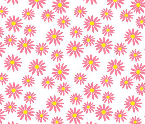 Pink_daisies_on_white_fabric_shop_preview