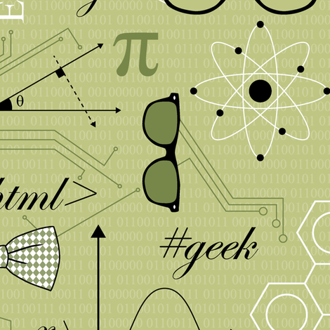 Retro Geek fabric by sarahjohnston on Spoonflower - custom fabric