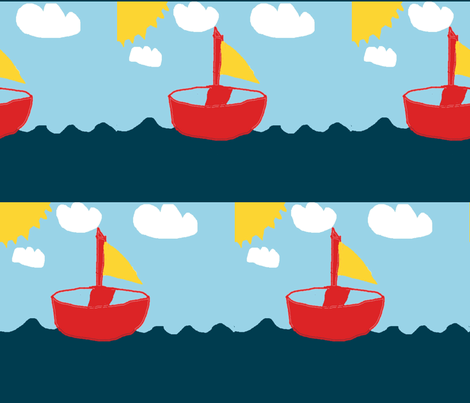 Sail_byJohan8yrs fabric by viljatwins on Spoonflower - custom fabric