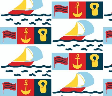 Nautical-child fabric by bphandmade on Spoonflower - custom fabric