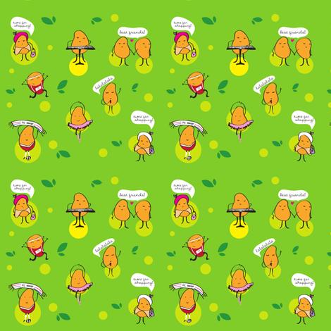 Happy Mangos fabric by sammio17 on Spoonflower - custom fabric