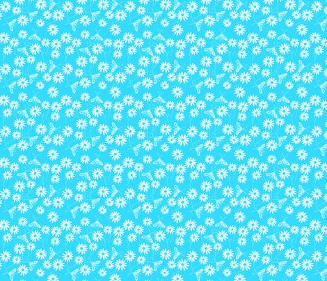 Summer Chic Blue fabric by de-ann_black on Spoonflower - custom fabric