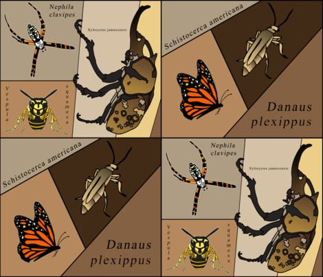 entomology geek fabric by thebumbleshackstudio on Spoonflower - custom fabric