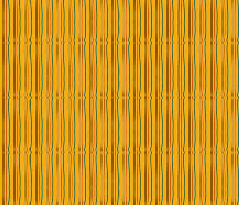 Gardeners Stripe (Yellow) fabric by vanillabeandesigns on Spoonflower - custom fabric