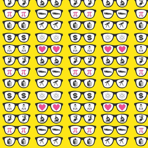 Geek glasses - yellow