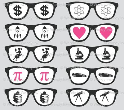 Gray Geek Glasses