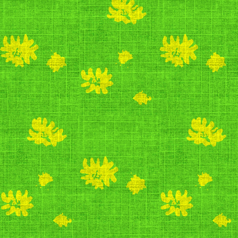 Lovely Linens (Yellow and Bright Irish Green) fabric by vanillabeandesigns on Spoonflower - custom fabric