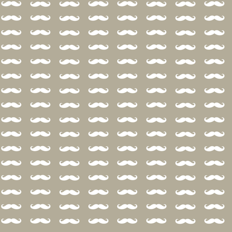 gray_background_white_mustache fabric by bricolees on Spoonflower - custom fabric