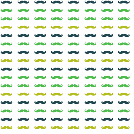 multicolor_green_and_blue_mustache fabric by bricolees on Spoonflower - custom fabric
