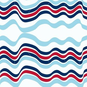 Bumpy Waters (Red and two Blues)