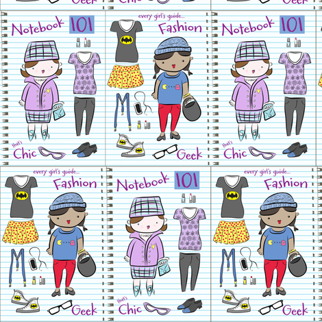 The 'geek chic' Fashion Notebook 101! fabric by pattyryboltdesigns on Spoonflower - custom fabric