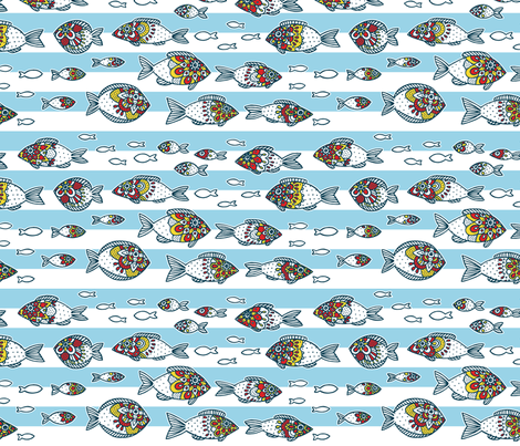 sunny fishes fabric by simut on Spoonflower - custom fabric
