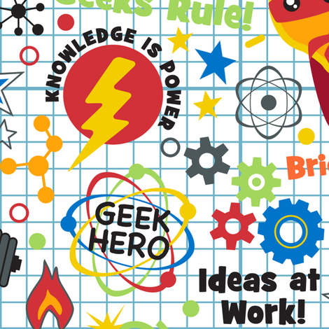 Super Geek Chic....simply brilliant! fabric by mariafaithgarcia on Spoonflower - custom fabric