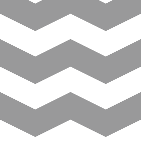 Modern Cottage ~ Chevrons ~ Grey & White fabric by peacoquettedesigns on Spoonflower - custom fabric