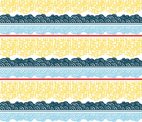 Sailboat Deconstructed fabric by sweetleighmama on Spoonflower - custom fabric