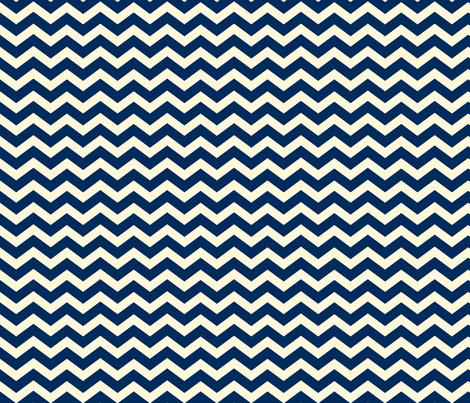 Chevron_Navy fabric by lana_gordon_rast_ on Spoonflower - custom fabric