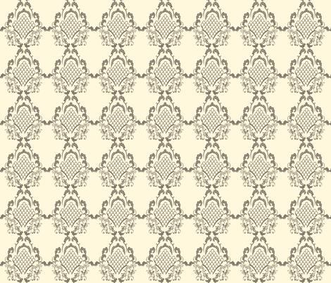 Damask_Brown fabric by lana_gordon_rast_ on Spoonflower - custom fabric