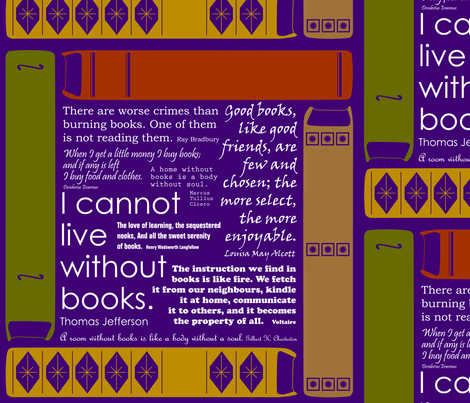 Book quotes fabric by medamade on Spoonflower - custom fabric