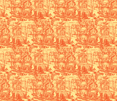 Garden of Antiquity fabric by amyvail on Spoonflower - custom fabric