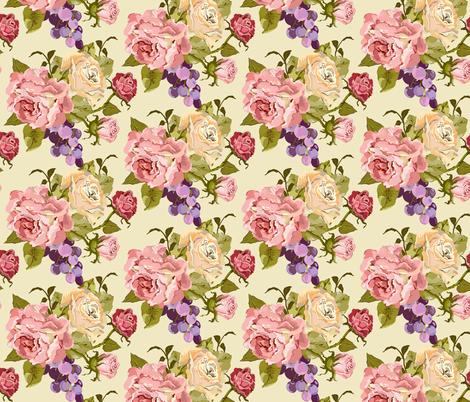 Half_Drop_Rose_Pink_Newest fabric by lana_gordon_rast_ on Spoonflower - custom fabric