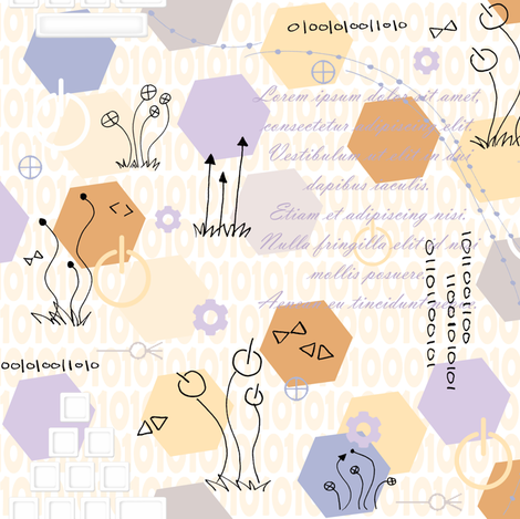 Geek Garden fabric by sheila_marie_delgado on Spoonflower - custom fabric